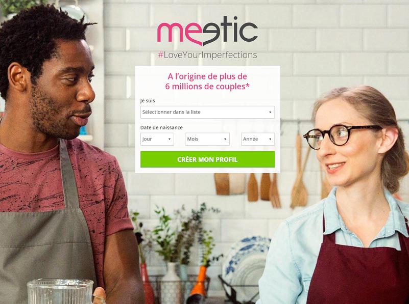 Meetic souhaite faire voyager ses membres entre célibataires - Capture d'écran