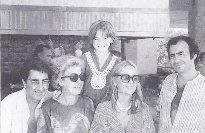 """Gilbert et Simone Trigano, avec Serge et Gisèle et leur fils Benjamin - DR : """"avec l'aimable autorisation du Club Med"""""""