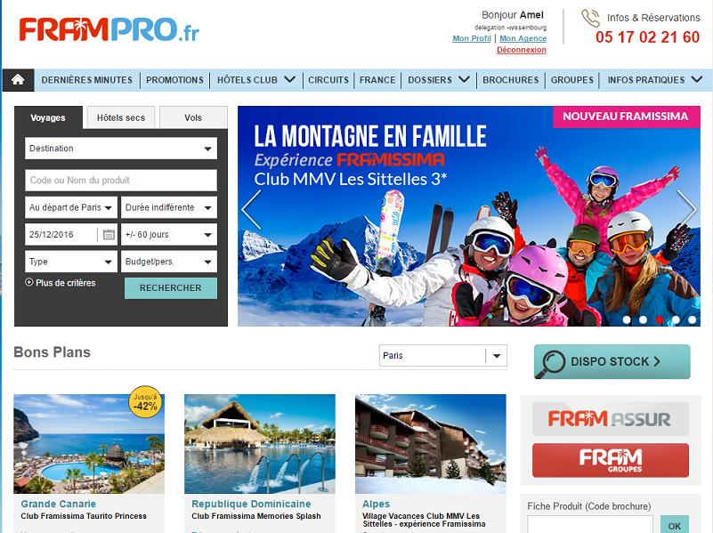 La nouvelle version du site Pro de FRAM est en ligne depuis début septembre 2016 - Capture d'écran