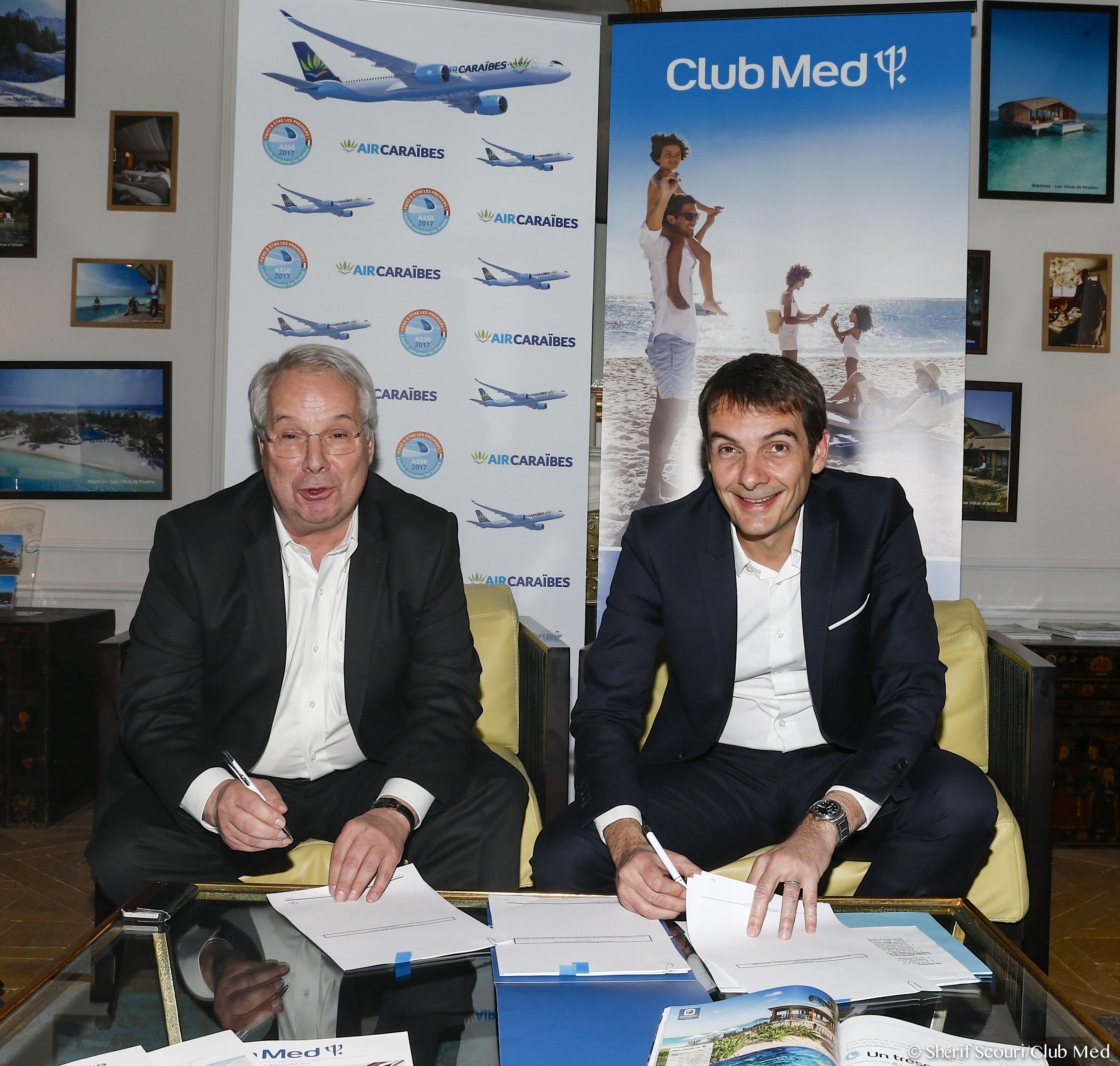 Marc Rochet, Président du Directoire d'Air Caraïbes et Sylvain Rabuel, Directeur Général France, Europe-Afrique du Club Med - DR Club Med