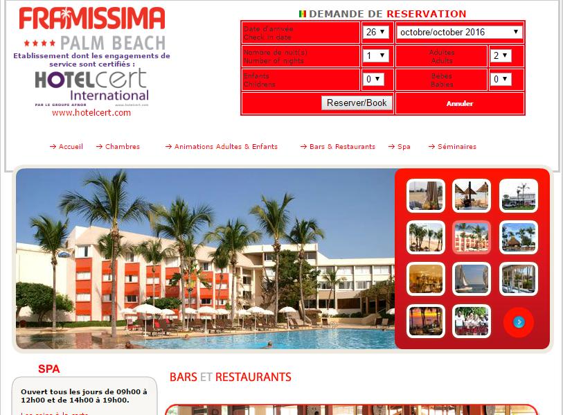 La société Framotel Sénégal exploite l'ex-Framissima Palm Beach, à Saly, au Sénégal - Capture d'écran