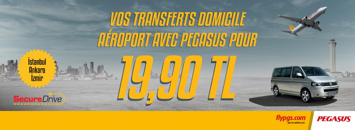 Un nouveau service de transfert aéroport pour les passagers de Pegasus Airlines