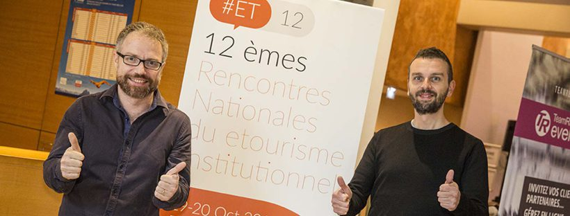 Xavier Rouhaud et Shaun Wourm co-fondateurs de Swikly, lauréate du start-up contest des Rencontres Nationales du e-tourisme institutionnel à Pau - DR