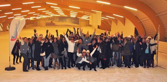 100 responsables d'agences Thomas Cook et Aquatour se sont réunis le temps d'un workshop neige en Belgique - DR : Thomas Cook