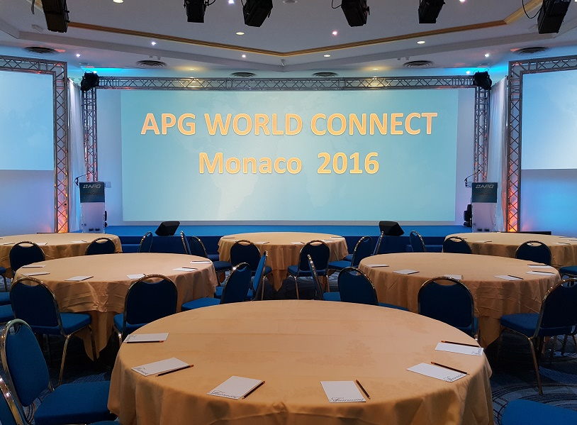 APG World Connect 2016 se déroule actuellement à l'hôtel Fairmont, à Monaco - Photo : P.C.