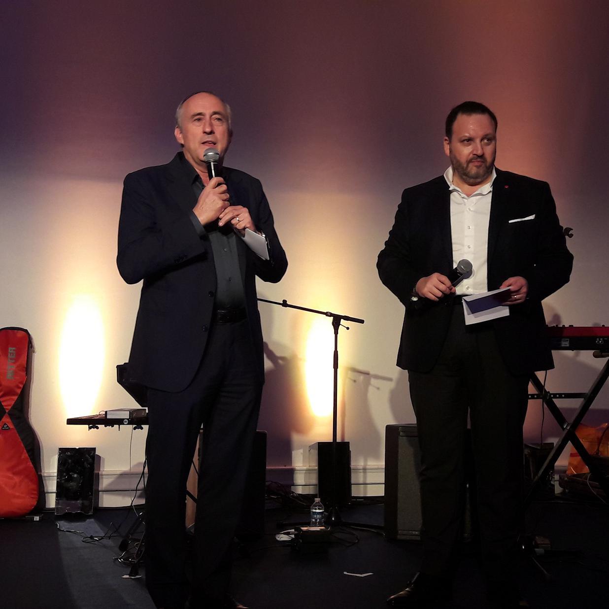 François Venin (à gauche) Vice président Ventes & Marketing du Groupe Beachcomber Hotels et Guy Zekri directeur général depuis huit mois du TO Beachcomber Tours.