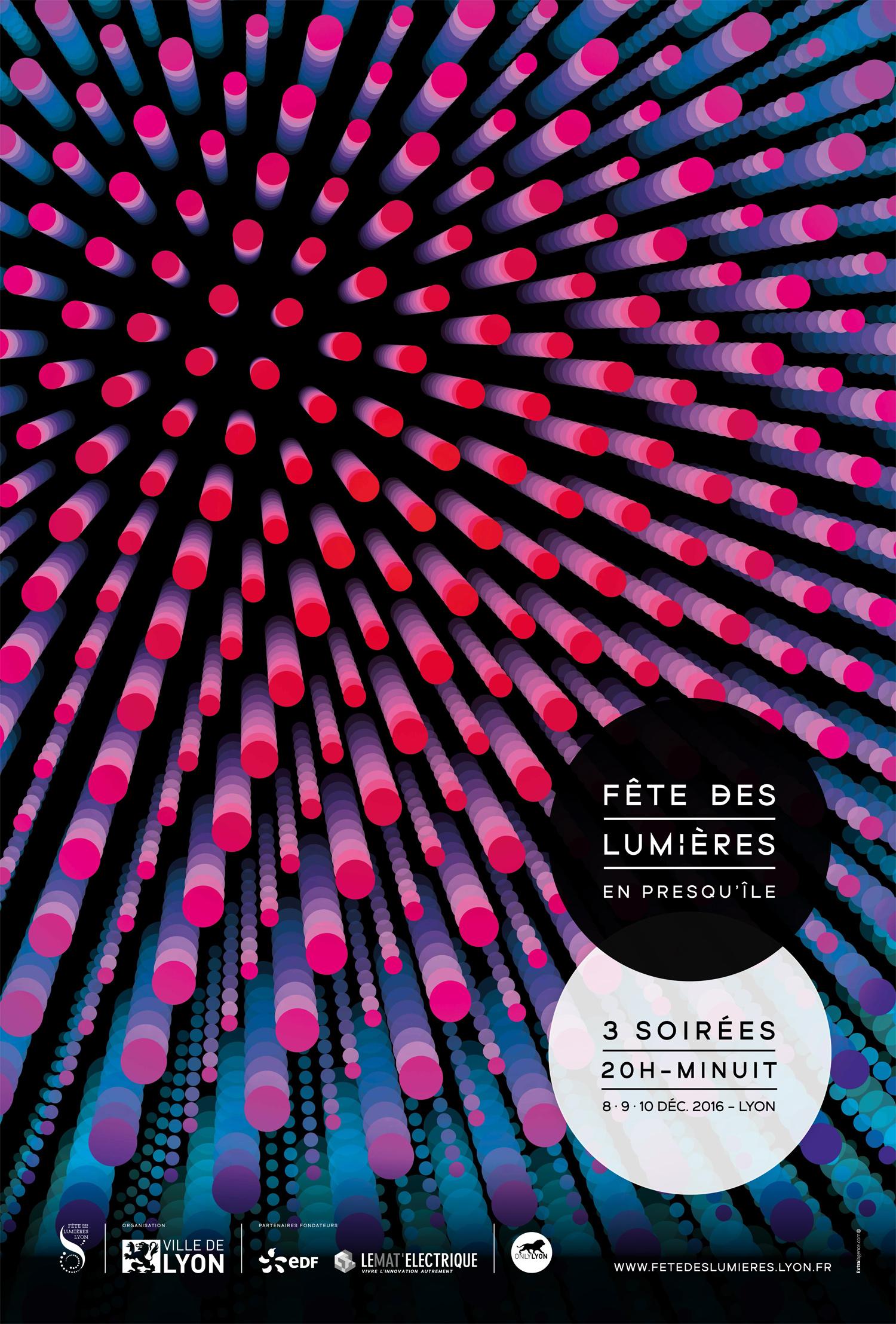 L'emblématique Fête des Lumières à Lyon aura lieu du 8 au 10 décembre 2016