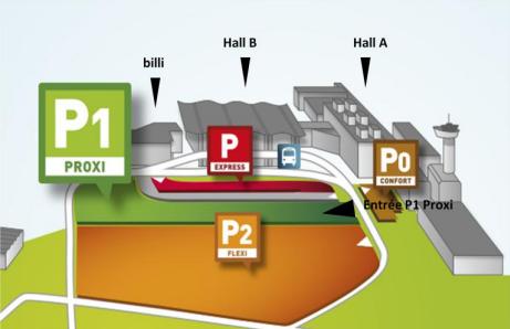 Le parking P1 Proxi est situé à proximité directe des entrées de l'aéroport - DR : Aéroport de Bordeaux