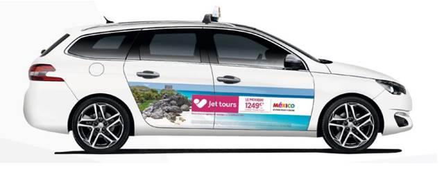 La campagne de Jet tours sur les taxis parisiens se déroule jusqu'au 6 décembre 2016 - Photo : Jet tours