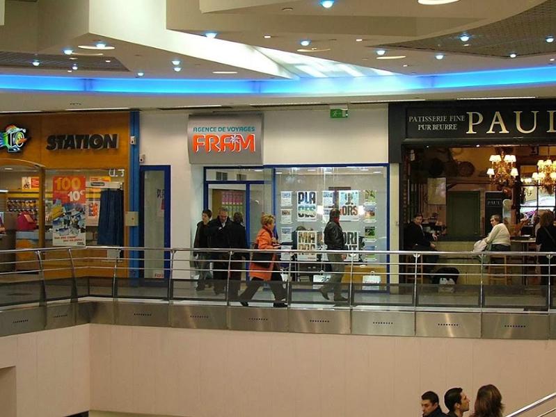 L'agence de voyages FRAM du centre commercial Créteil Soleil va bientôt fermer définitivement ses portes. Le loyer du local est trop élevé pour en assurer la rentabilité - Photo : Google Maps