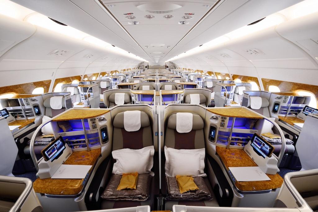 L'Aribus A380 nouvelle génération reçu par Emirates. Cet appareil dispose de 76 sièges en Classe Affaires - Photo Emirates