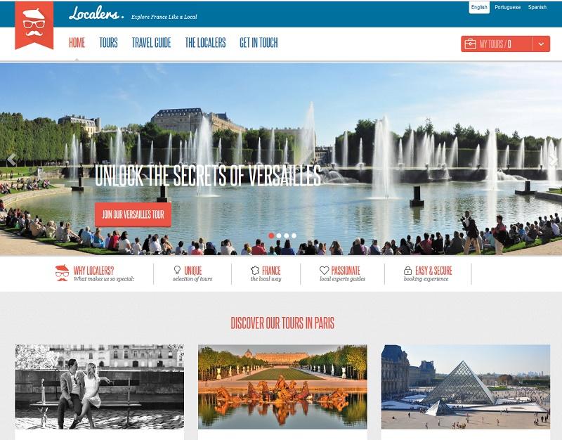 Le site Localers.com propose des excusions à thème en petits groupes, ou en individuels à Paris et en Ile de France - Capture écran