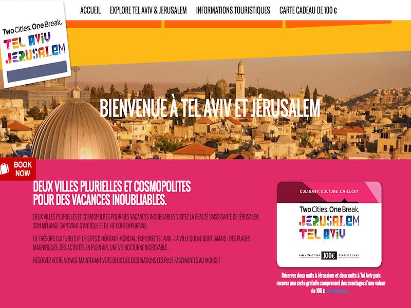 Israël lance un nouveau site internet pour promouvoir les city-break entre Jérusalem et Tel Aviv - DR : OT Israël