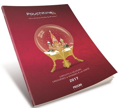 La brochure 2017 de Pouchkine Tours est sortie - DR : Pouchkine Tours