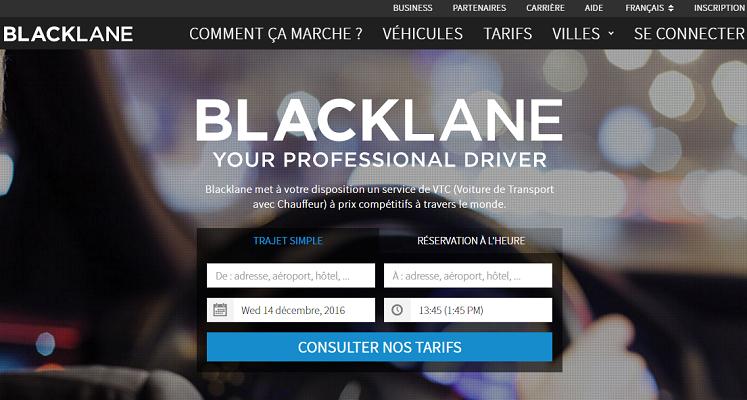 Blacklane continue d'étendre son réseau - Capture d'écran