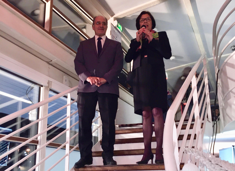 Une présidente et un président heureux qui voient 2017 sous les meilleurs auspices pour la profession - Photo JDL