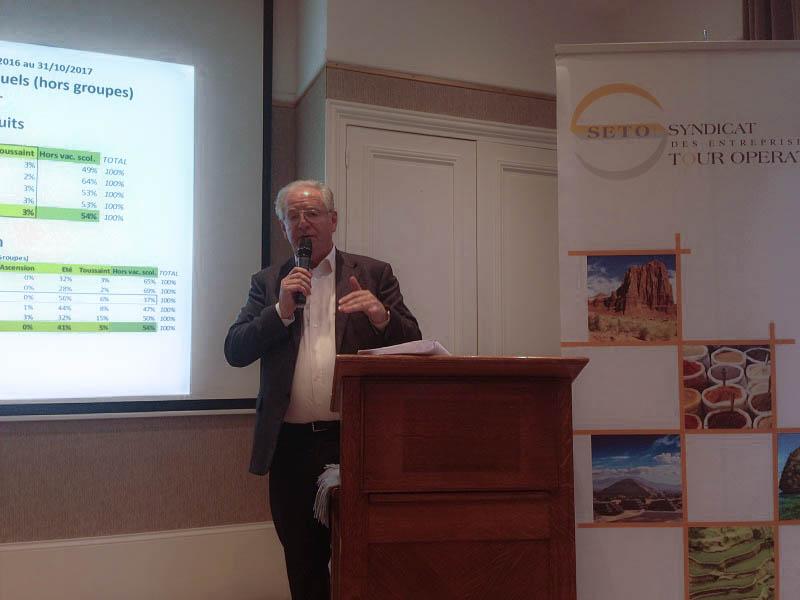 Réné-Marc Chikli, président du SETO lors de la conférence de presse du SETO à Deauville - Photo CE