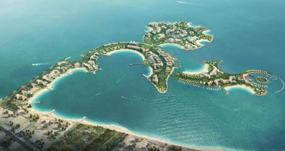 L'hôtel de Mövenpick sera situé sur l'île artificielle d'Al Marjan - Photo : Mövenpick Hotels & Resorts