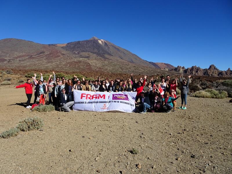 La photo de Groupe lors de l'éductour aux Canaries - Photo FRAM
