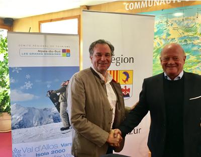 Renaud Muselier et Rémi Guibal, organisateurs de la première Rencontre Montagne et Tourisme - DR