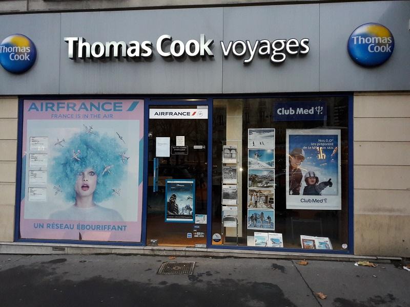 Une des agences Boiloris fermée qui porte l'enseigne Thomas Cook - Photo MS