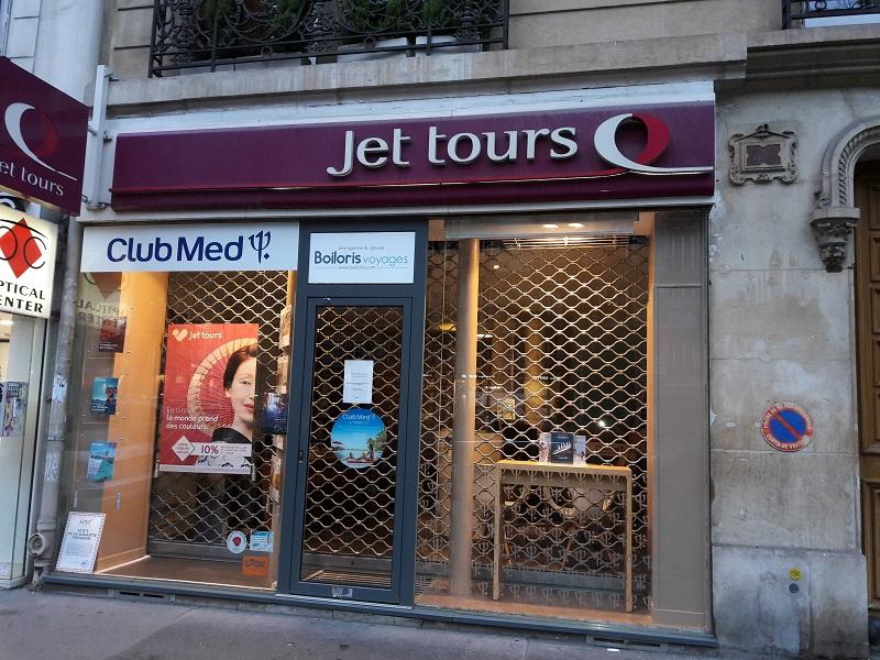 Une des agences Jet Tours du réseau boiloris fermée à la clientèle - Photo MS.