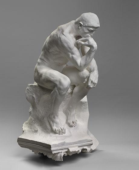 Auguste Rodin, Le Penseur, sur chapiteau plâtre. Musée Rodin, Paris © musée Rodin (photo Herve Lewandowski)