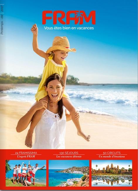 La Nouvelle brochure FRAM est disponible en agences depuis le 4 janvier 2017 - Capture écran