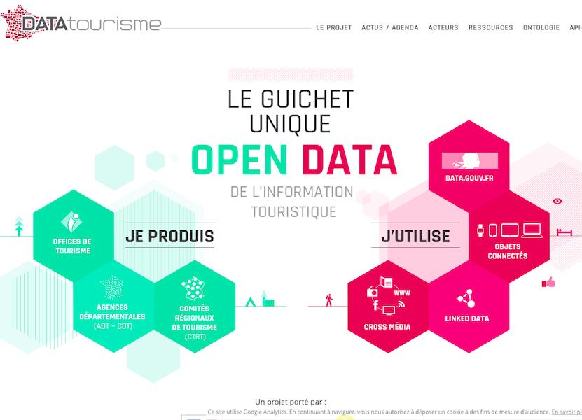 Le nouveau format de référence pour les données d'informations touristiques (c) Capture datatourisme.fr