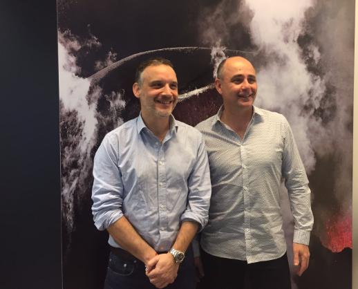 Marc Broussaud et Eric Biard, fondateurs d'Island Tours, le 11 janvier 2017 lors d'une conférence de presse à Paris © DR PG