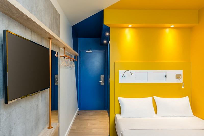 Ibis budget lance un nouveau concept de chambre diaporama for Low budget hotel