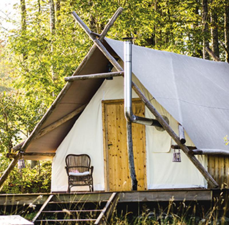 Tente prospecteur/@Jura Tourisme