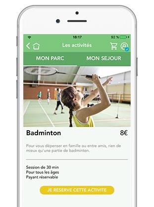Center Parcs : nouvelle version de l'application mobile