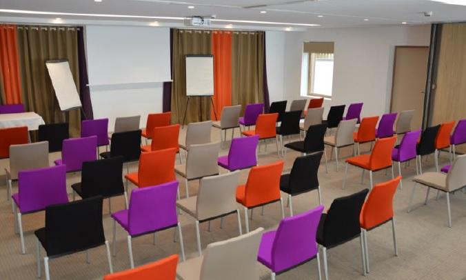 La salle de séminaire de l'hôtel Les Barmes de l'Ours Hôtel & Spa - DR