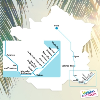 Voyages SNCF ouvre les ventes pour le Sud-Est de la France - DR : Voyages SNCF