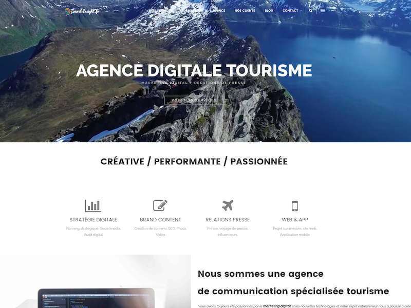 Travel Insight propose des services de community management, content marketing, développement web, applications mobiles - DR : Capture d'écran Travel Insight