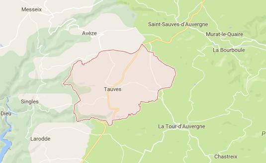L'accident s'est produit sur la commune de Tauves, dans le Puy-de-Dôme - DR : Google Maps