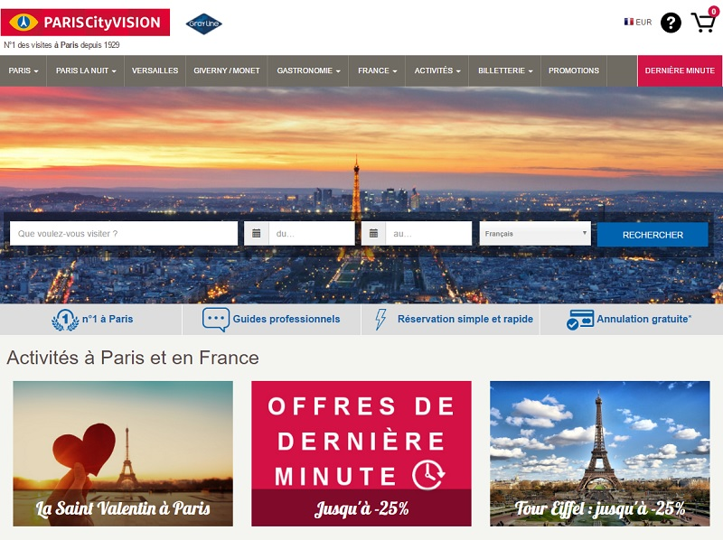 PARISCityVISION regroupera désormais près de 400 références d'excursions et activités à Paris et en Province - DR : PARISCityVISION