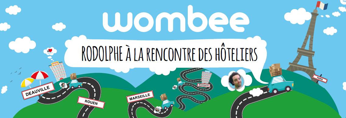 Wombee part à la rencontre des hôteliers français pour présenter son site et son application