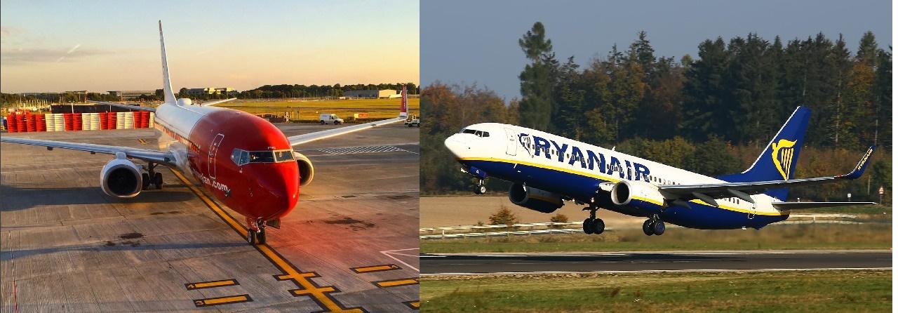 Norwegian et Ryanair vont unir leurs forces - Photo : Norwegian/Ryanair