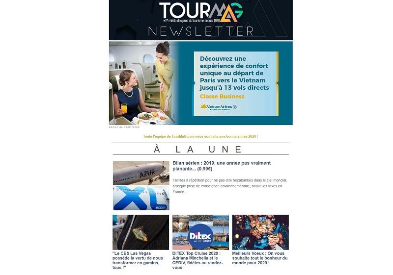 Problème technique : retrouvez la newsletter de TourMaG.com en ligne
