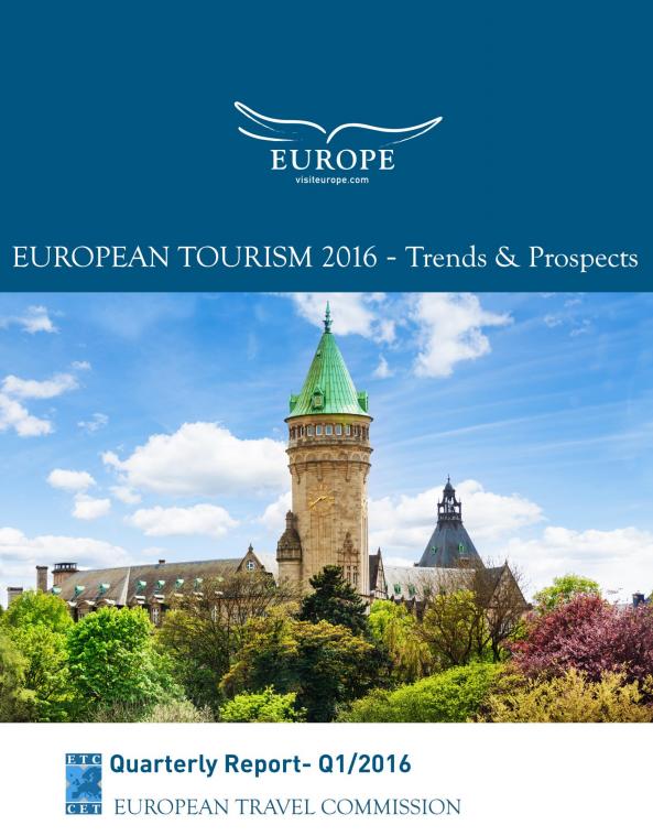 La couverture du rapport de la Commission européenne du tourisme sur la fréquentation touristique en Europe en 2016 - DR : Commission européenne du tourisme