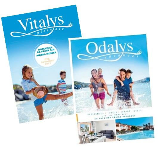 Été 2017 : sortie des nouvelles brochures Odalys et Vitalys