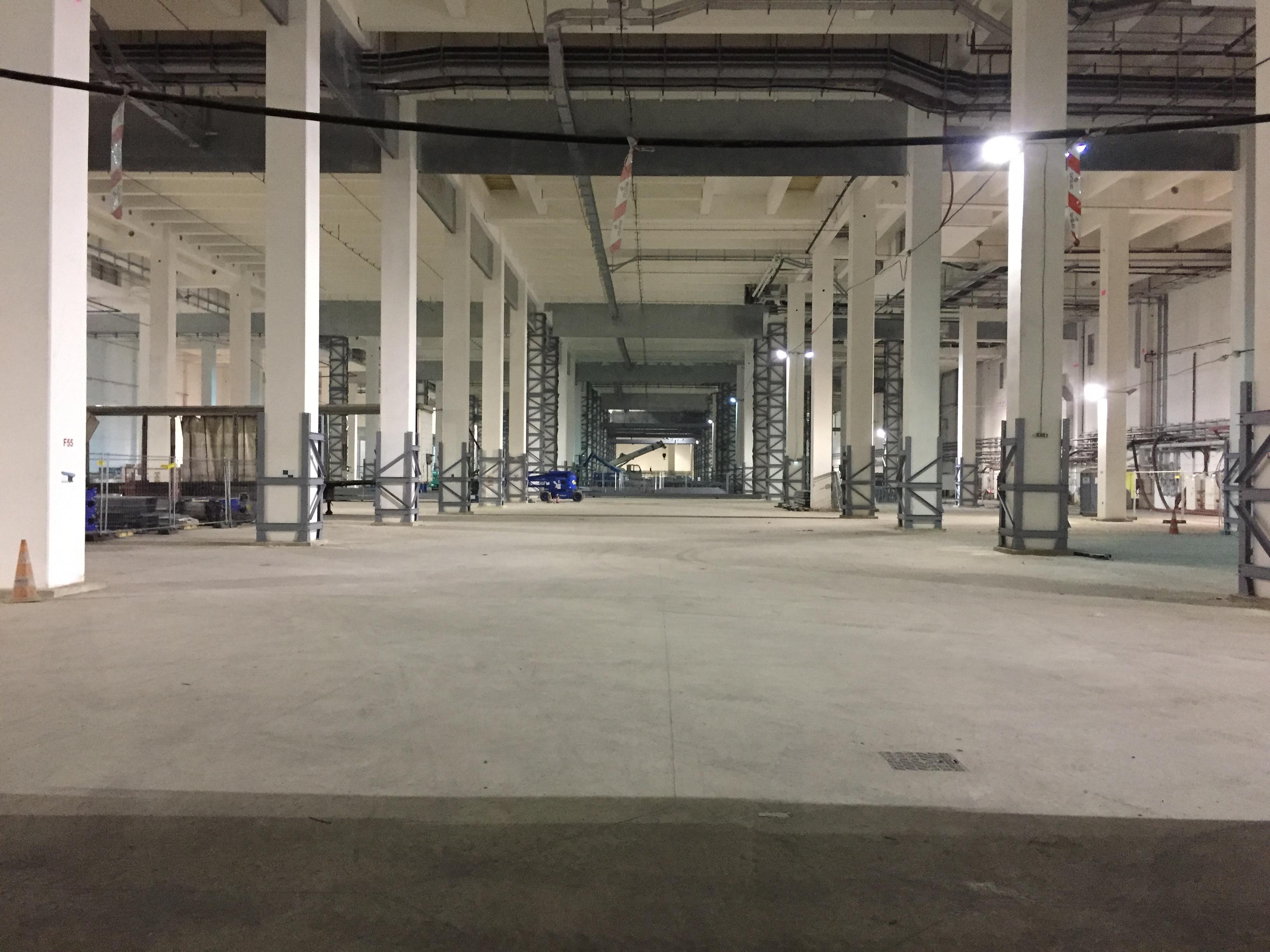"""La """"cathédrale de béton"""", futur centre de tri des bagages du hub DR : PG Tourmag"""