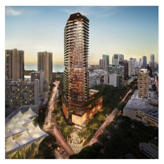 Le Mandarin Oriental Honolulu sera situé dans une tour de 23 étages - Photo : Mandarin Oriental