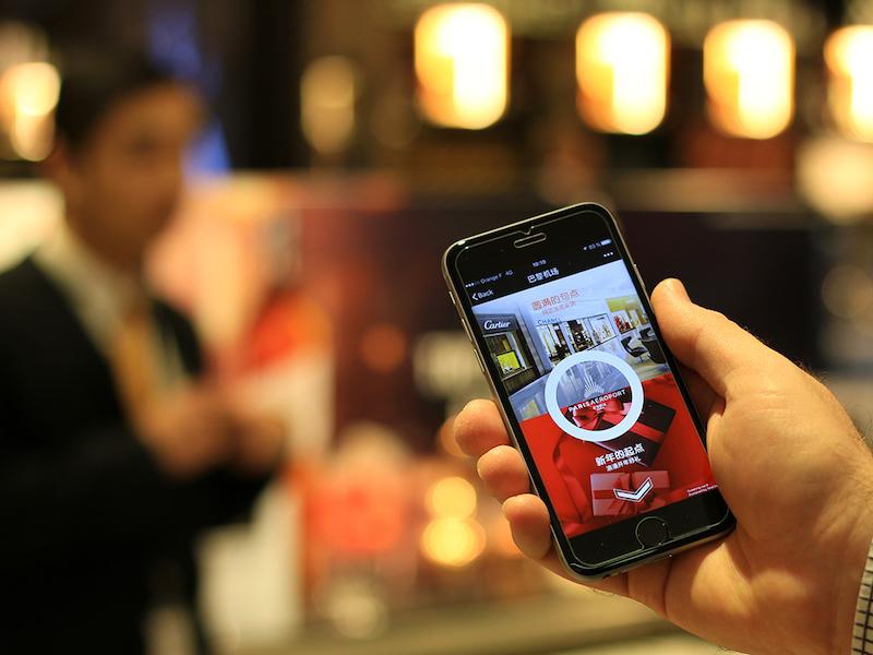 Paris Aéroport souhaite la bienvenue et une bonne année aux voyageurs chinois depuis l'application WeChat - DR : Paris Aéroport