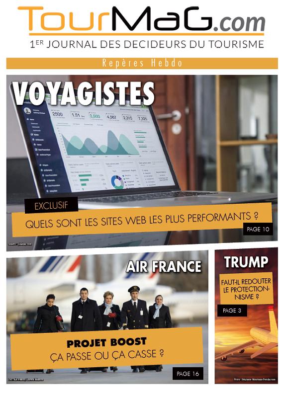 Cliquez sur la couverture du 3e numéro de Repères Hebdo pour vous abonner - DR : TourMaG.com