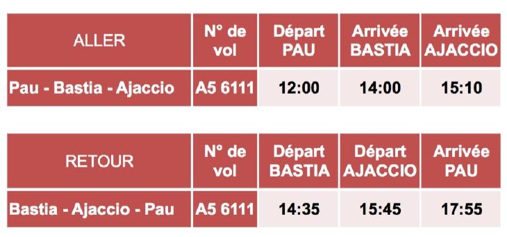 Pau : HOP! Air France desservira la Corse du 27 mai au 30 septembre 2017