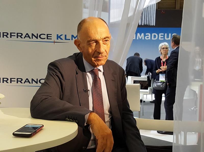 """Jean-Marc Janaillac, PDG d'Air France KLM a déclaré : """"Nos problèmes de surcapacité sont dus à l'augmentation des vols des compagnies du Golfe, ainsi qu'aux low-cost long courrier"""" Photo AB"""