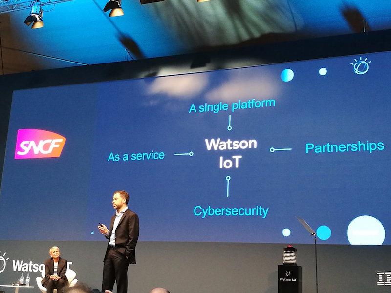 Raphael Viard CTO de SNCF Digital lors de l'inauguration du centre européen Watson IoT (c) DR